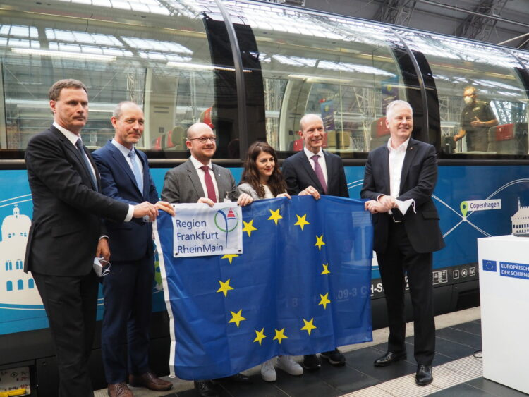 CEE Welcome ceremony at Frankfurt Main Station on 28-09-2021