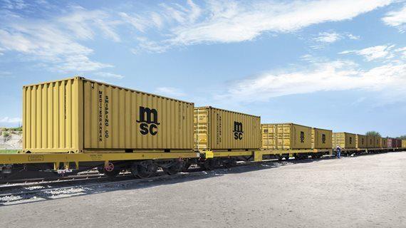 Symbolic photo (MSC): Intermodal company train